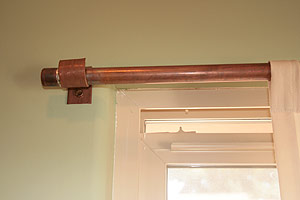 Copper pipe curtain rods