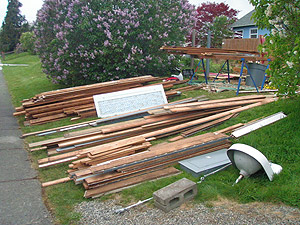 Materials from salvage project