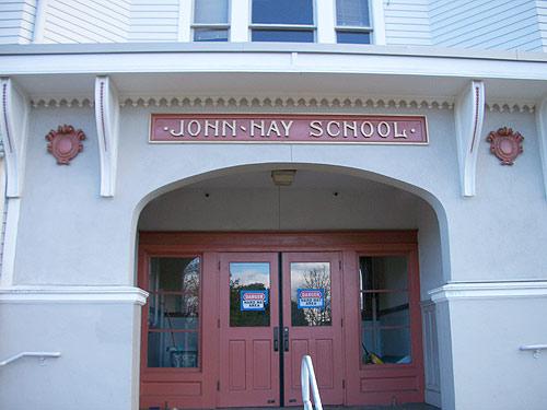 John Hay Elementary front door