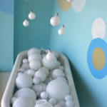 Designing with reuse - Nia Sayers Window Display - Bubble Tub