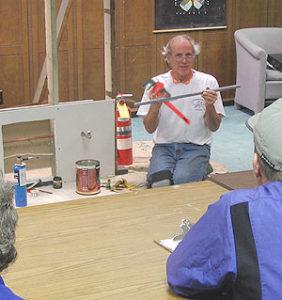 Stephen Frank teaches plumbing workshop