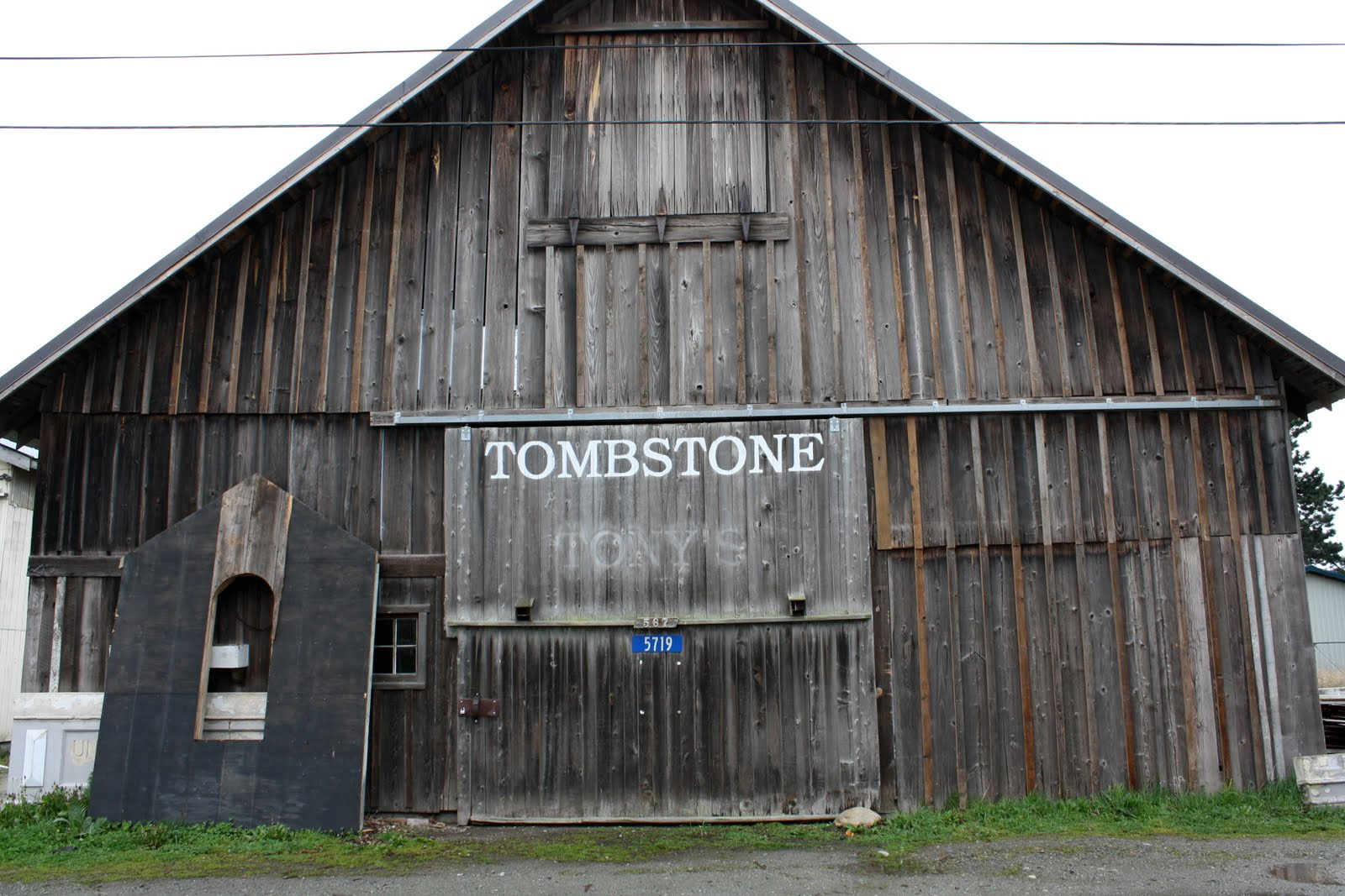 Front of Smith and Vallee's Tombstone barn