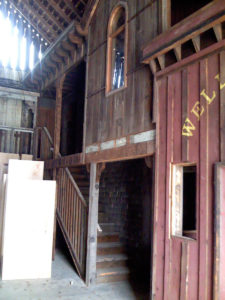Previous inside of Tombstone barn with antique mall