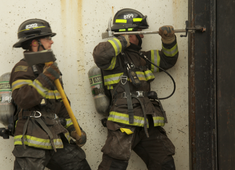Fire fighter forcible entry training photo