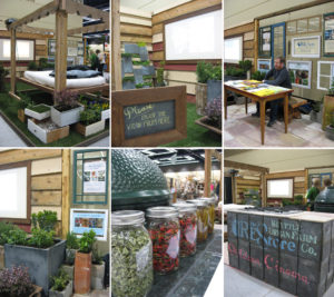 Flower and Garden Show Booth Collage