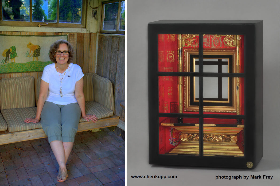 Artist Cheri Kopp and her piece Shrink to Unfinished Projects