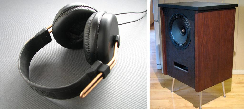 Matt headphones speaker