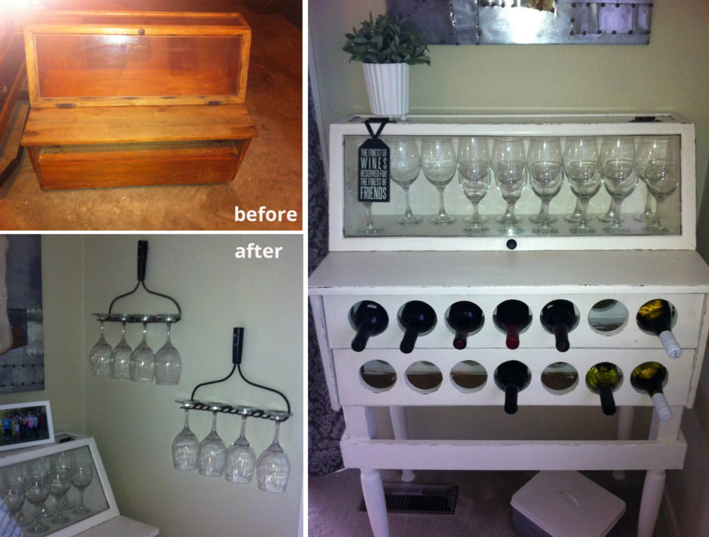 Customer Before After Display Case To Wine Rack The RE Store