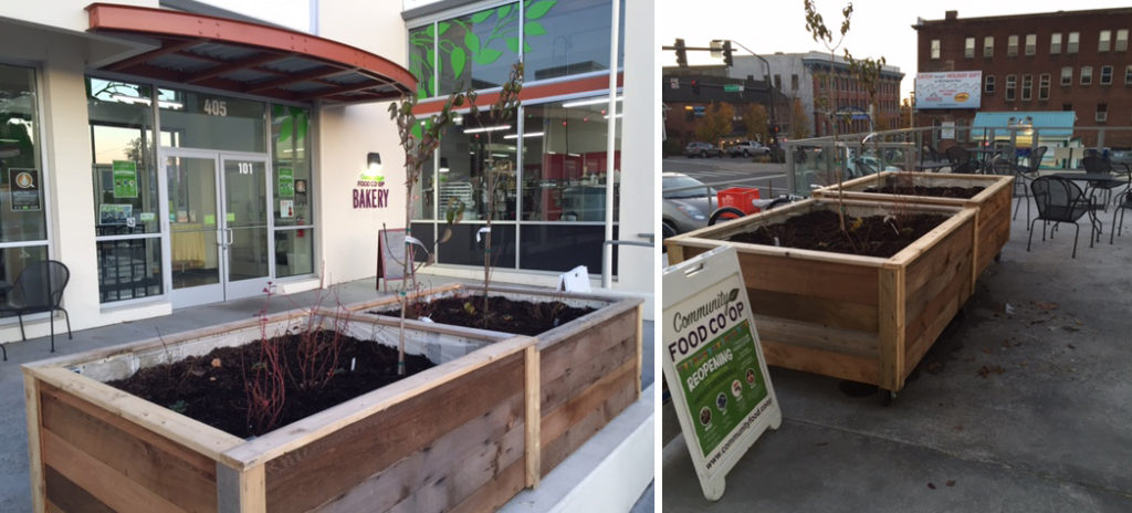 Community Co-op planters