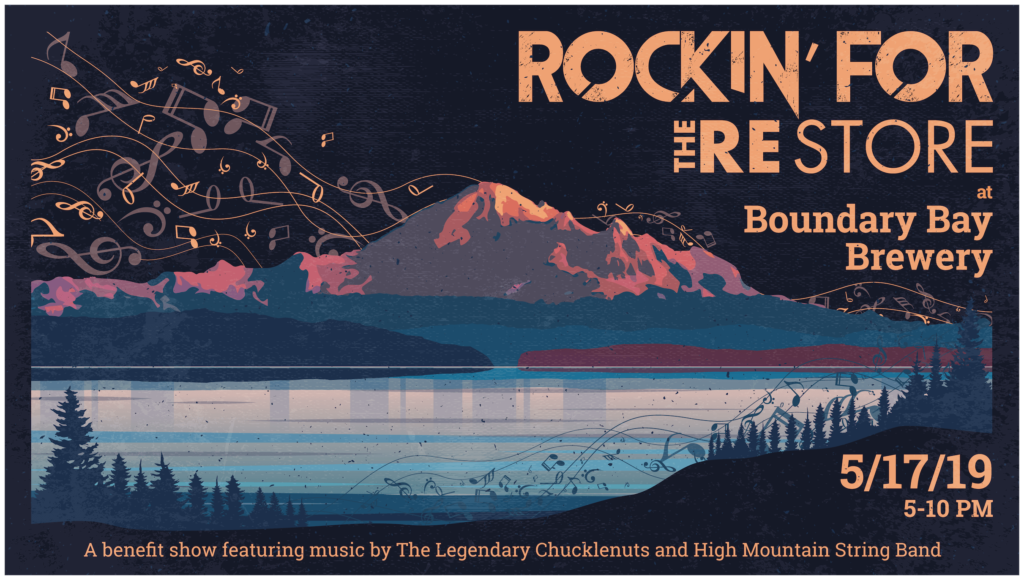2019 Rockin' for The RE Store event poster