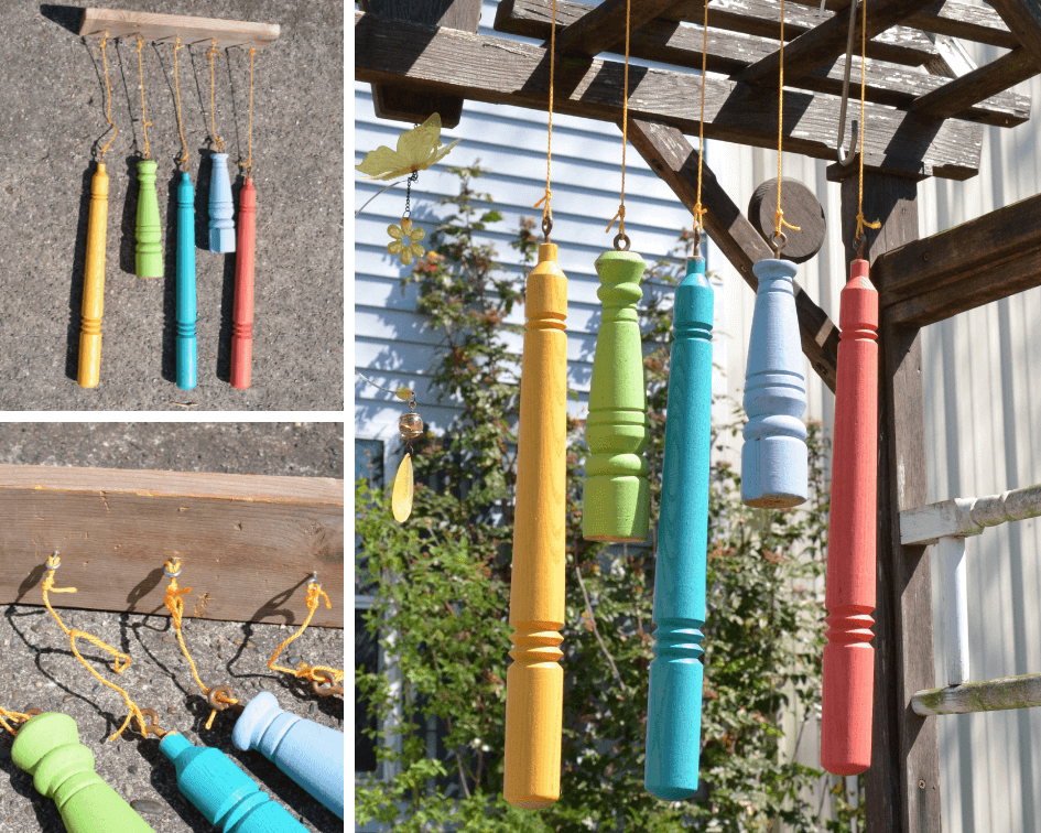 Simple DIY Wind Chime from reclaimed materials