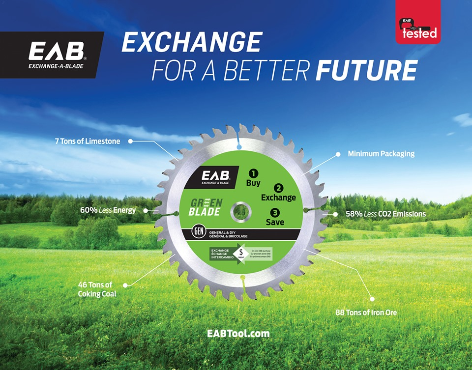 Exchange a blade sustainable tools